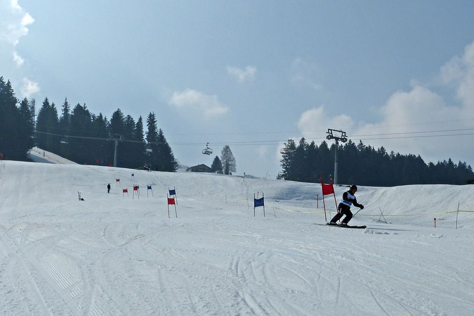 Skirennen am Thurhang